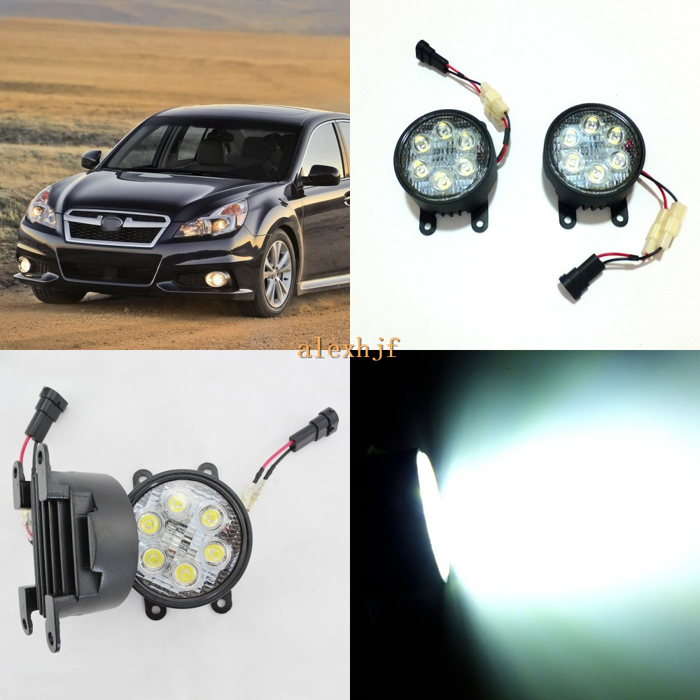 July King 18W 6LEDs H11 LED Fog Lamp Assembly Case for Subaru Lecagy 2013~ON etc, 6500K 1260LM Daytime Running Lights july king led daytime running lights 6500k 18w led fog lamps case for honda crv fit city crosstour everus and acura 2013 on etc