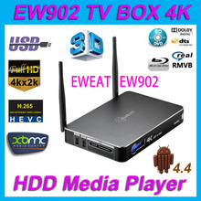 Eweat EW902 Android TV Box Realtek Rtd1195 4 Karat 3D Netzwerk HDD Media Player 1 GB/8 GB HDMI in & Out USB3.0 DTS-HD BD ISO Dolby H.265(China (Mainland))