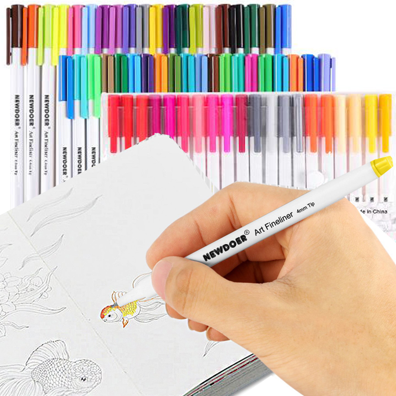 Caliart Fineliner Pens 60 Colors Fine line Drawing Pen Set, 0.38mm Fine Point Markers for Planner Drawing Writing Coloring Book sta brush marker pens fine point markers set of 36 colors for bullet journal adults coloring book note taking writing planning