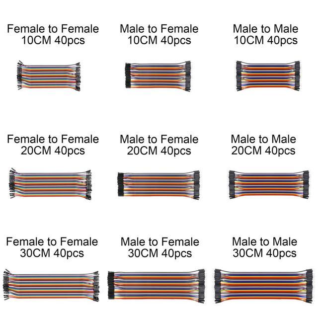 Dupont линии 10/20/30 см мужчинами, мужчин и женщин, Женский перемычку Dupont кабеля для Arduino