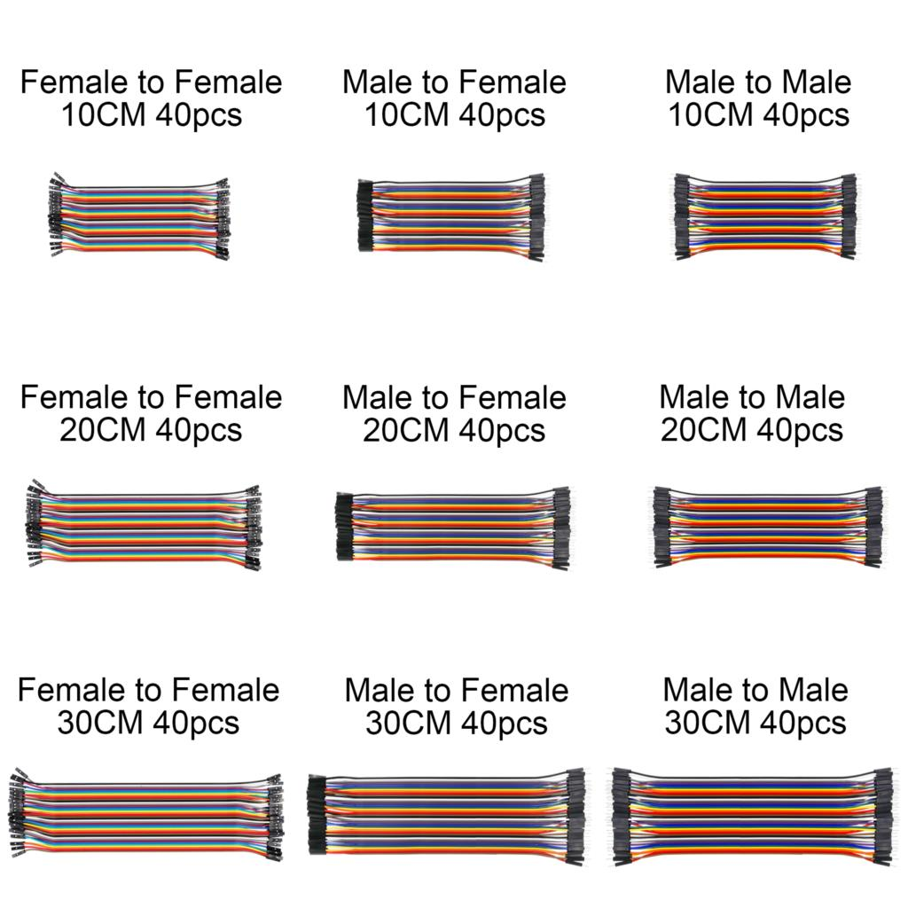 Yongse Geekcreit 3 in 1 120pcs 10cm Male to Female Female Female to Female Male to Male Male to Male Jumper Cable for Arduino