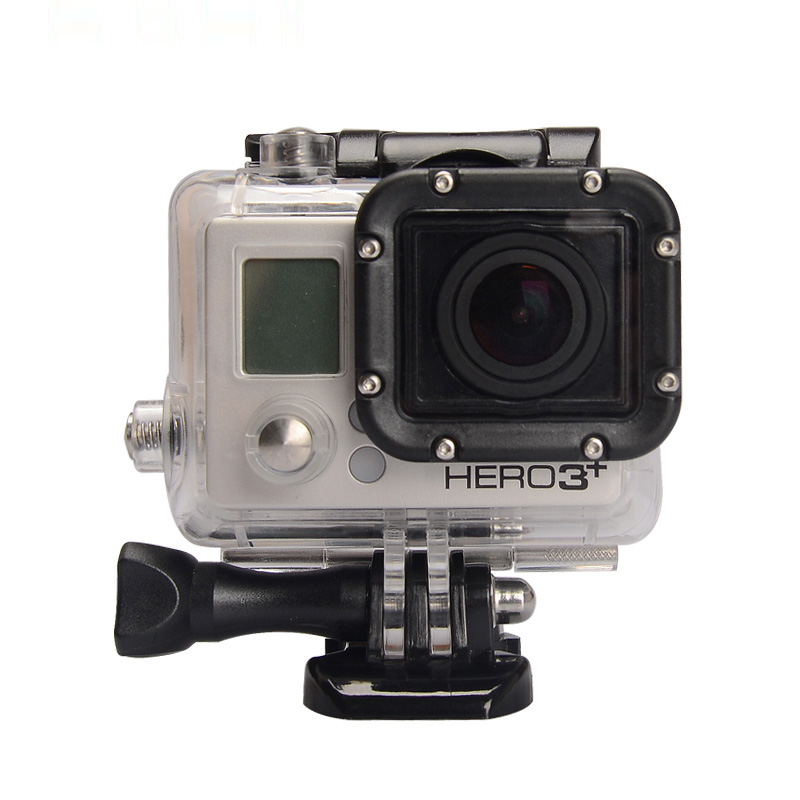 Hot selling Gopro Accessories 45m Waterproof Housing Underwater Diving Case with Mounting seat and screw For Hero 3 3+ 4