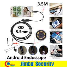 3.5m Inspection Pipe Android Endoscope Mini Camera 5.5mm Lens IP67 Waterproof 6 Adjustable LED Light 720P HD micro USB Camera