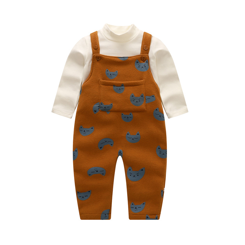 brand autumn cartoon baby kids girls boys clothes suits suit for the boy girl children's clothing set of long tops and rompers kimocat boy and girl high quality spring autumn children s cowboy suit version of the big boy cherry embroidery jeans two suits