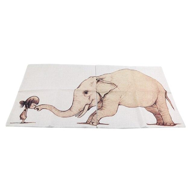 البرية الحيوان كيس وسادة القطن الكتان كرسي مقعد و الخصر مربع القرش الفيل الديناصور نمط وسادة غطاء المنسوجات المنزلية