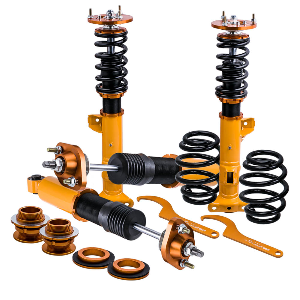 Full Shock for BMW E36 M3 3 Series Sedan Coupes Coilover Suspension Strut fit 316i 318is 320i 323i 325i 328i M3 90-99 for bmw e36 318i 323i 325i 328i m3 carbon fiber headlight eyebrows eyelids 1992 1998
