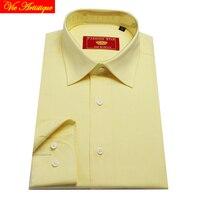 Male Long Sleeve Business Formal Dress Cotton Oxford Lemon Shirts Men S Big Plus Size Casual