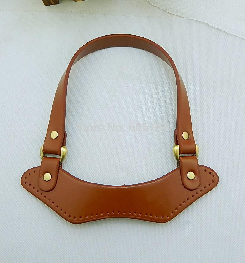Free Shipping Diy Bag Handle Parts And Accessories Pu Synthetic Leather Handbag Handles Strap Red Black Brown In Top Bags From Luggage On
