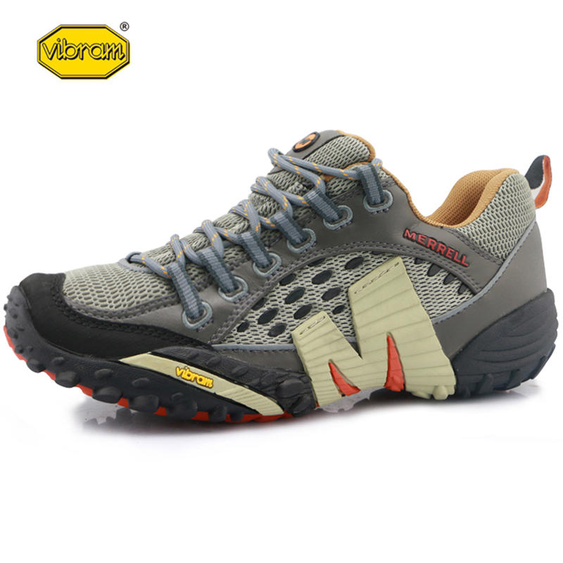 Vibram Outdoor Sport Hiking Shoes Men Lace Up Light Air Mesh Breathable For Mountain Cross Country