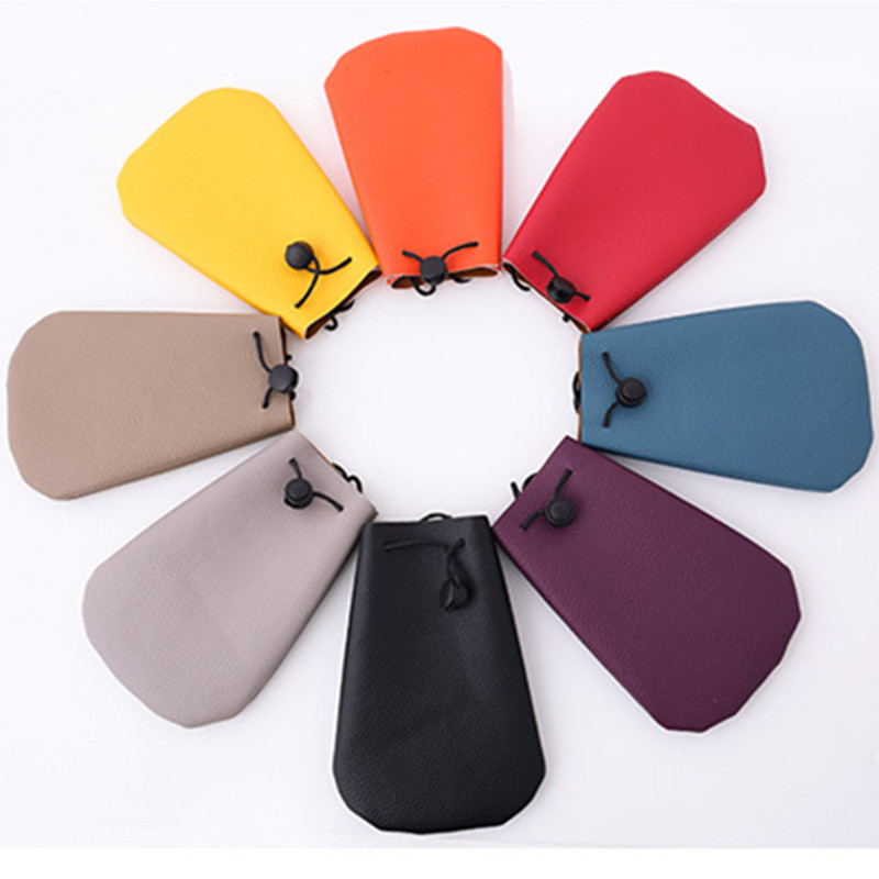 Mode Candy Kleur Portemonnee Litchi patroon Lederen Telefoon Pouch - Portemonnees en portefeuilles
