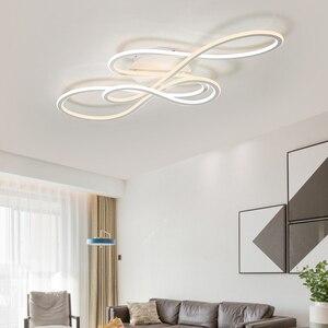Image 5 - Đôi Phát Sáng đèn LED hiện đại Đèn Chùm cho phòng khách phòng ngủ lamparas de techo mờ ốp trần đèn chùm đèn gắn xe đạp
