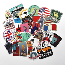 50pcs Random Mixed Stickers For Snowboard Laptop Luggage Car Fridge Car Styling Vinyl Decal Home Decor