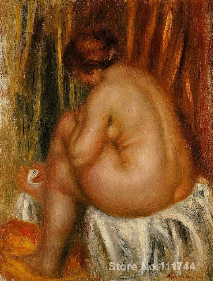oil paintings female body <font><b>After</b></font> <font><b>Bathing</b></font> (<font><b>nude</b></font> study) by Pierre Auguste Renoir artwork High quality Hand painted