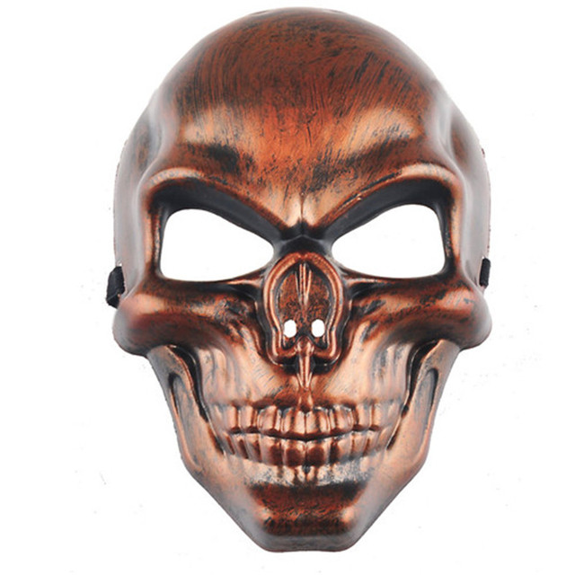Resin Skeleton Army Full Face Mask Mascara Terror Movie Masks Party ...