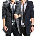 2016 new autumn and winter male trench slim medium-long overcoat woolen fashion leisure men's clothing outerwear free shipping