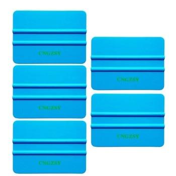 5pcs professional 3M blue soft squeegee vehicle window protective vinyl film tinting wraps car sticker scraper tools 5A16