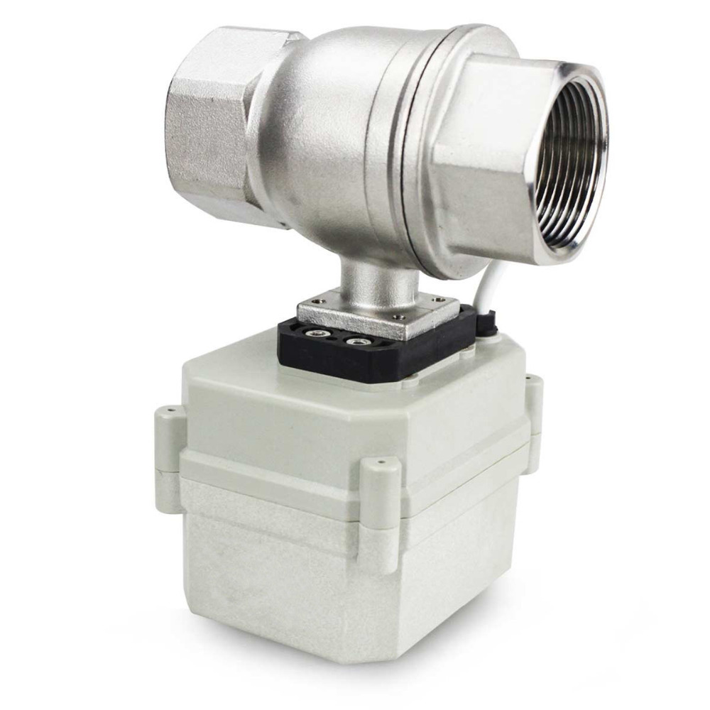 "HSH Flo 1 1/4"" DN32 2 Way SS304 Motorized Ball Valve, Electrical Ball Valve-in Valve from Home Improvement    1"