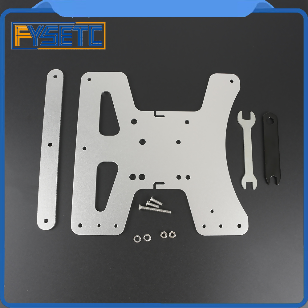 Image 2 - Cloned Aluminum Y Carriage Plate Kit Heated Bed Supports 3 Point Leveling For Creality Ender 3 Ender 3 Pro Ender 3S 3D Printer-in 3D Printer Parts & Accessories from Computer & Office