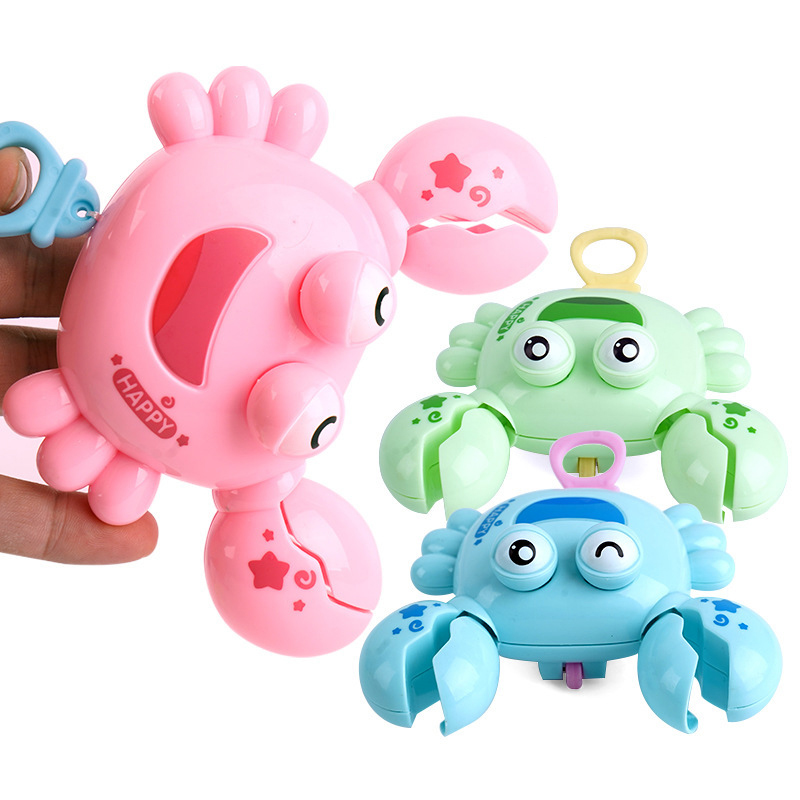 1pc Baby Shower Toy Cute Plastic Crab-shaped Swimming Bath Swimming Toy Children Gift Water And Land With Universal