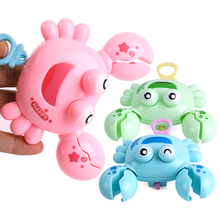 1pc baby shower toy cute plastic crab-shaped swimming bath children gift water and land with universal
