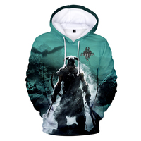 3D The Elder Scrolls V SKYRIM Women's Pullover Hoodies Women/Men Hot Game Couple's Harajuku Hip Hop Fans Sweatshirt Tops