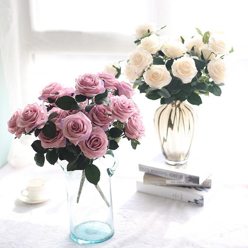 Cheap Silk Flower Bouquets For Weddings: Aliexpress.com : Buy 10 Heads Artificial Flower Cheap Rose