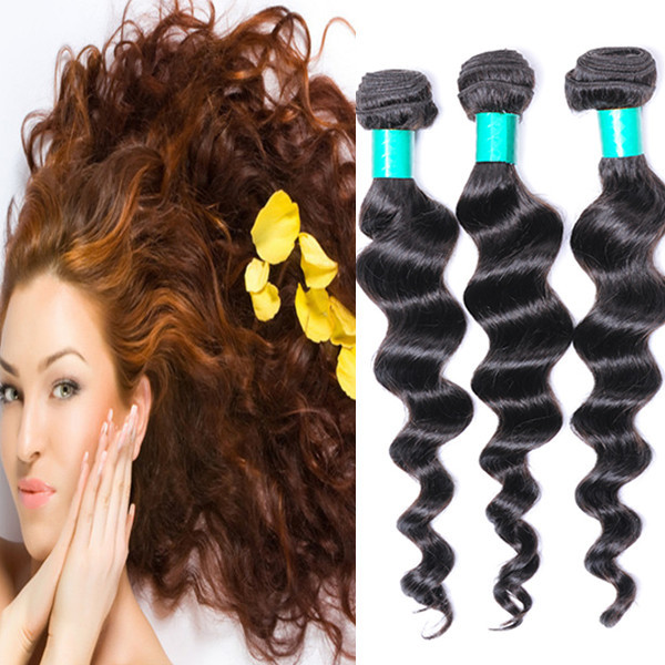 Halo Hair Extensions Malaysia Virgin Human Hair Loose Wave Sew In