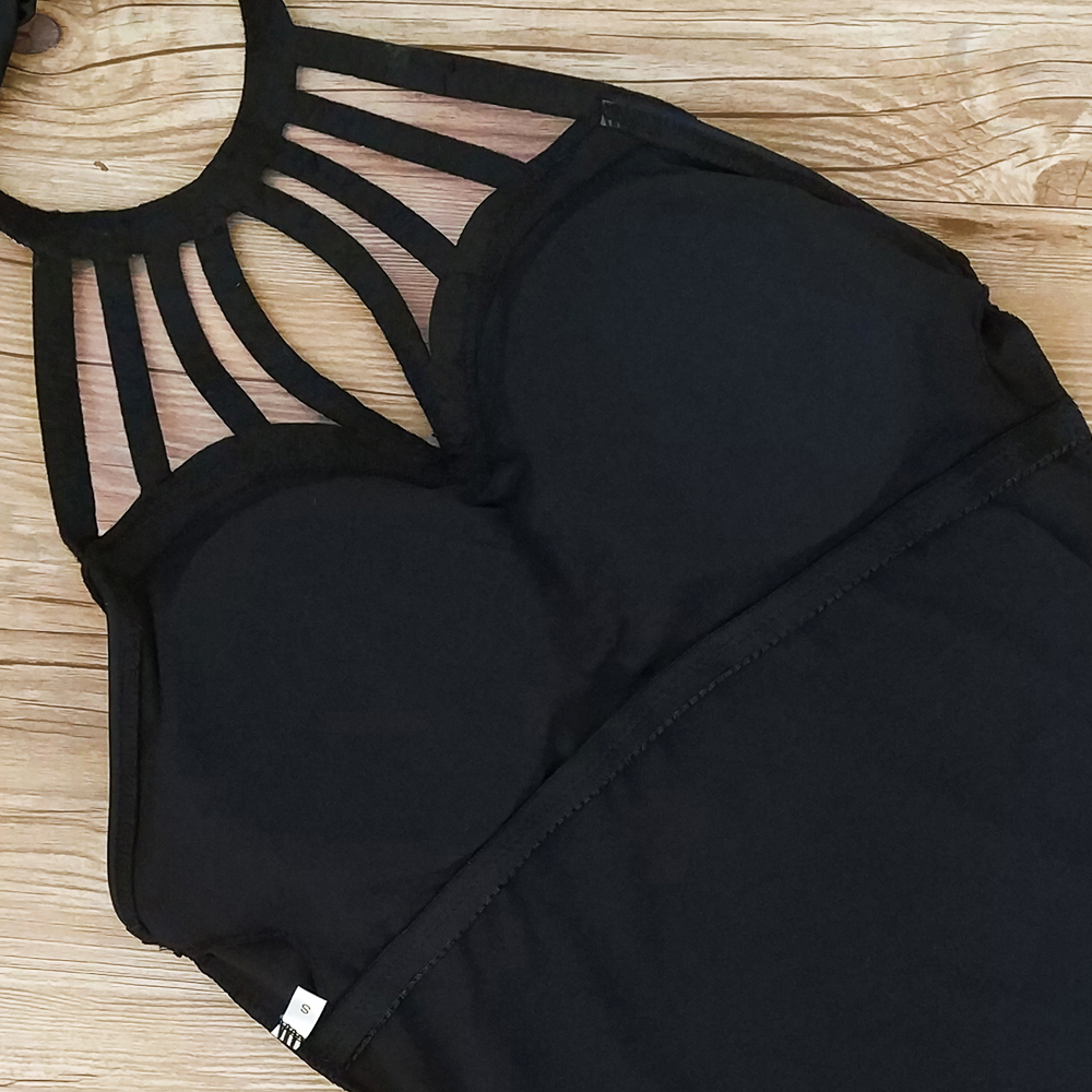 Monokini Women One Piece Swimwear Black 11