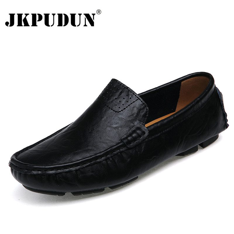Jkpudun Plus Size Men Leather Shoes Casual 2017 Summer