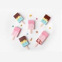 20 pcs Ice cream forma caixas de bombons presentes para a festa de crianças dia das crianças Doces Caixa De Papel De Dobramento Dos Desenhos Animados Gaveta Bonito caixa