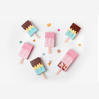 20pcs Ice Cream Shape Candy Gifts Boxes For Kids Party Children Day Candy Folding Paper Box