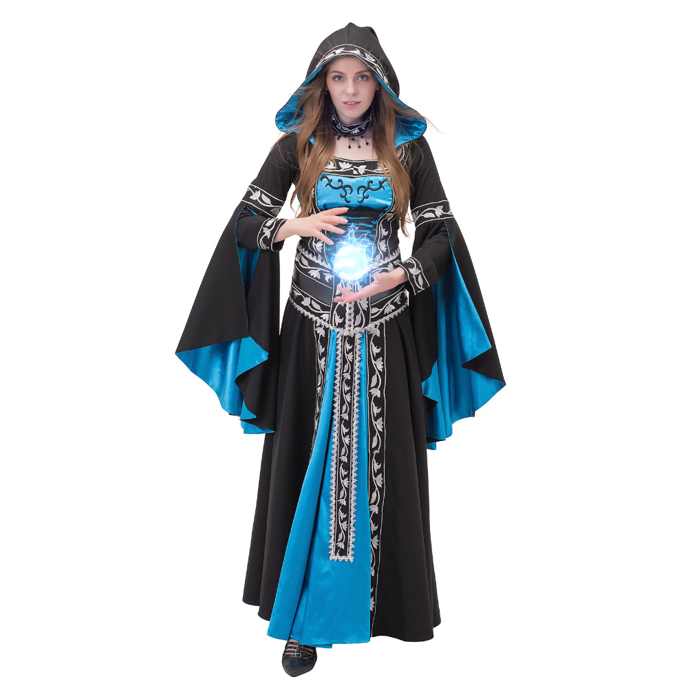 Victorian Era Dress Womens Medieval Renaissance Civil War Masquerade Dress Ball Gown With Corset Necklace Halloween Costume