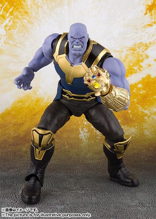 SHFiguarts SHF Thanos in Marvel Avengers Infinity Guerra BJD Action Figure Giocattoli per Regalo Di Compleanno Di Natale