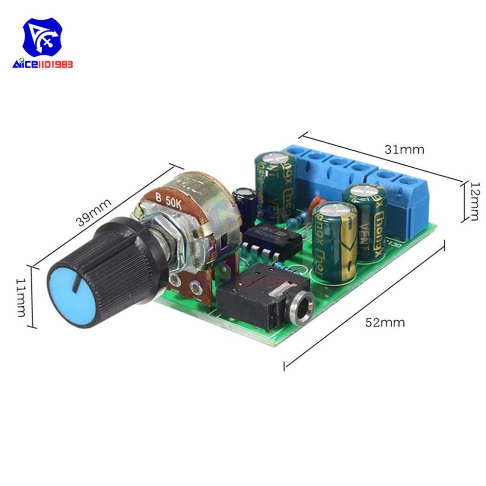 DC1.8-12V TDA2822M Amplificateur 2.0 Canaux Stéréo 3.5 mm Audio Board MODULEES