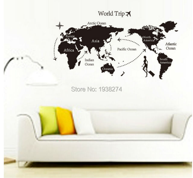 Hot sale travel world map backdrop bedroom wall stickers home hot sale travel world map backdrop bedroom wall stickers home decoration sticker for kids room wall gumiabroncs Image collections