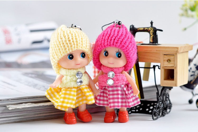 5pcs 2016 NEW Kids Toys Soft Interactive Baby Dolls Toy Mini Doll 8 CM For Girls Free Shipping interactive toys