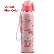 Hallo Kitty Kinder Edelstahl Isolierflaschen & Thermoskannen Wasserflasche Mit Seil 180 ML/200 ML Erhältlich Rosa blau Farbe