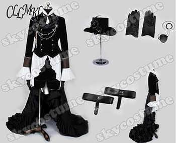 Anime Kuroshitsuji Black Butler Ciel Phantomhive Party Dress Cosplay Costume Full Set Customized - DISCOUNT ITEM  22% OFF All Category