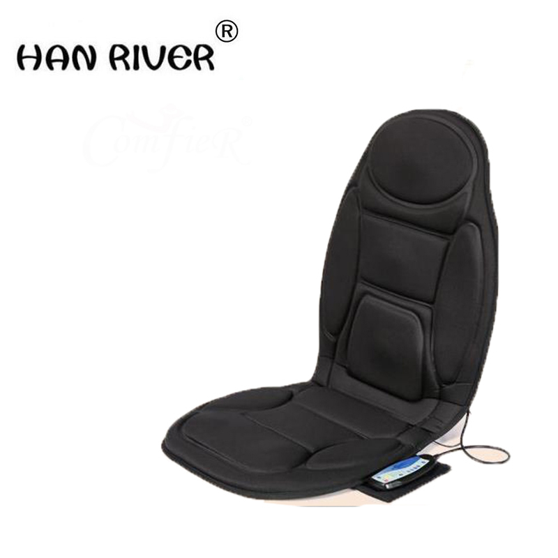 Vital Physio Massage Chair Seat Massager Heat Vibrate Cushion Back Neck Chair Car Pain massager massageador +The adapterVital Physio Massage Chair Seat Massager Heat Vibrate Cushion Back Neck Chair Car Pain massager massageador +The adapter