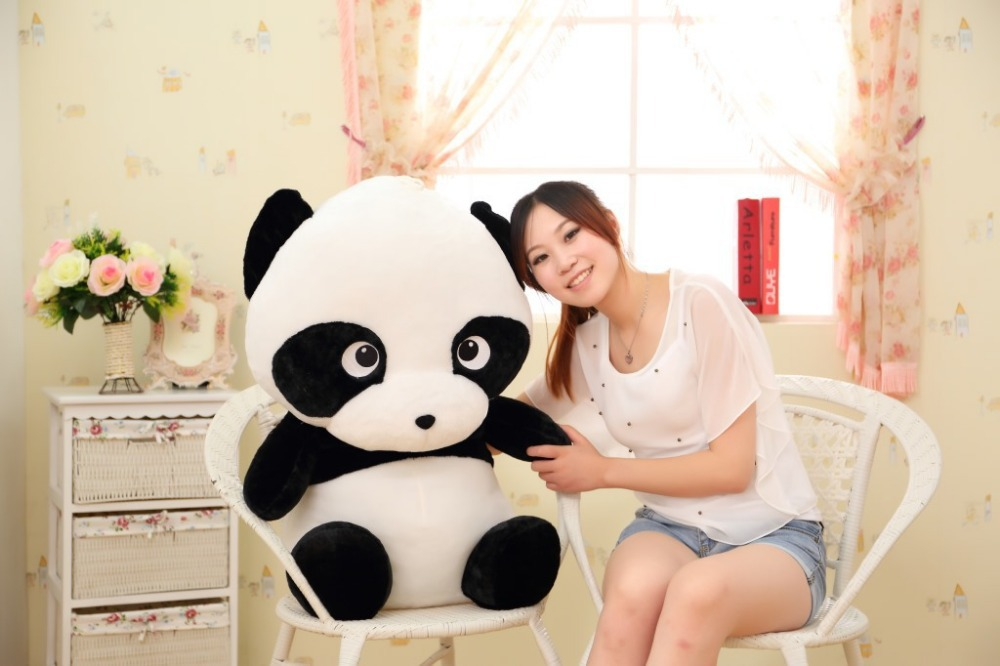 stuffed toy  large 60cm lovely Panda plush toy panda doll throw pillow, Christmas gift w0769 lovely giant panda about 70cm plush toy t shirt dress panda doll soft throw pillow christmas birthday gift x023