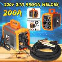 220V 200A Mini Arc Welder IGBT Inverter MMA Welding Machine Agron Welder Ground Clip TIG Torch Welding Tools New Arrival 2019