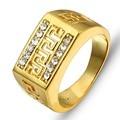 2016 O Melhor Presente Banhado A Ouro Homens Jóias Anéis # RI100244 Partido Frete grátis Jóias Cubic Zirconia Anéis homem