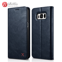 XOOMZ Phone Cases For Samsung Galaxy S8 Plus Edge Luxury Leather Flip Case Wallet Case Stand