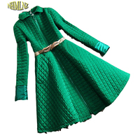 2016 Korea New Fashion Women Winter Dress High Quality Cotton Leisure Office Dress Women Elegant Slim