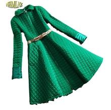 2016 Korea New Fashion Women Winter Dress High quality Cotton Leisure Office Dress Women Elegant Slim Big pendulum Dress G2267