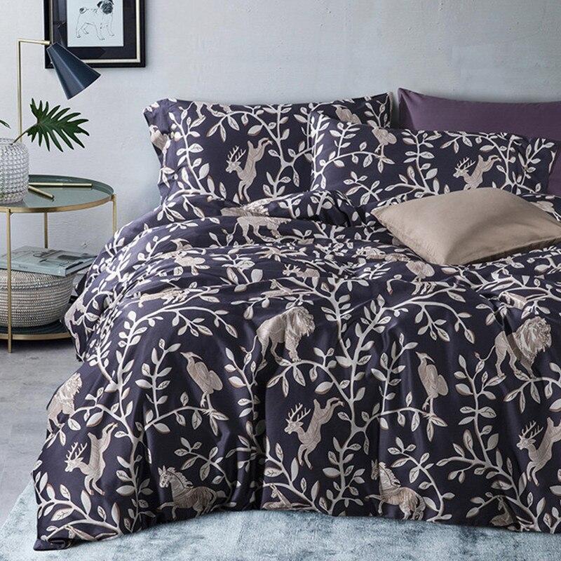Chausub European Quality Bedding Set 4pcs Satin Egyptian