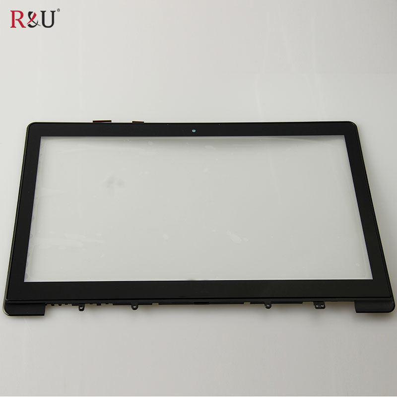 R&U test good high quality FP-TPAY15611A-01X touch screen digitizer with frame outside screen for Asus S551 S551LB S551L S551LN