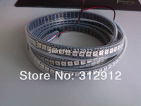 144leds/m WS2812B(5050 rgb led with WS2811 IC built in) led pixel strip,DC5V,2m long;waterproof in silicon tube;BLACK PCB