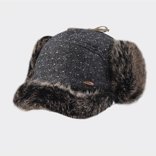 0276e5cbf61 Kenmont Winter Unisex Women Men Grey Faux Fur Earflap Hat Aviator Trapper  Bomber Russia Cap Fashion Warm 2306