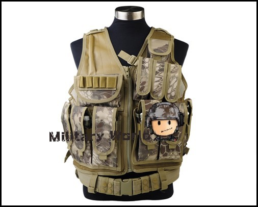 Airsoft Tactical Military Combat Army Molle Mesh Designed with Holster Vest For Hunting Nylon Light And Durable Adjustable